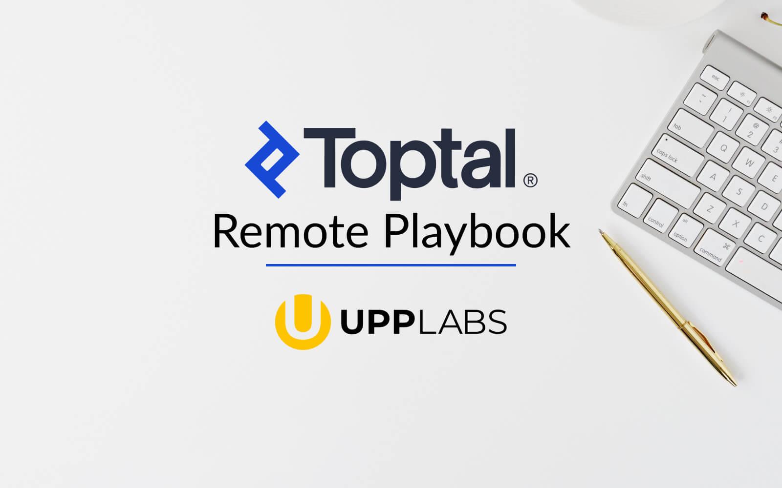 Best remote work practices: Remote Playbook by Toptal