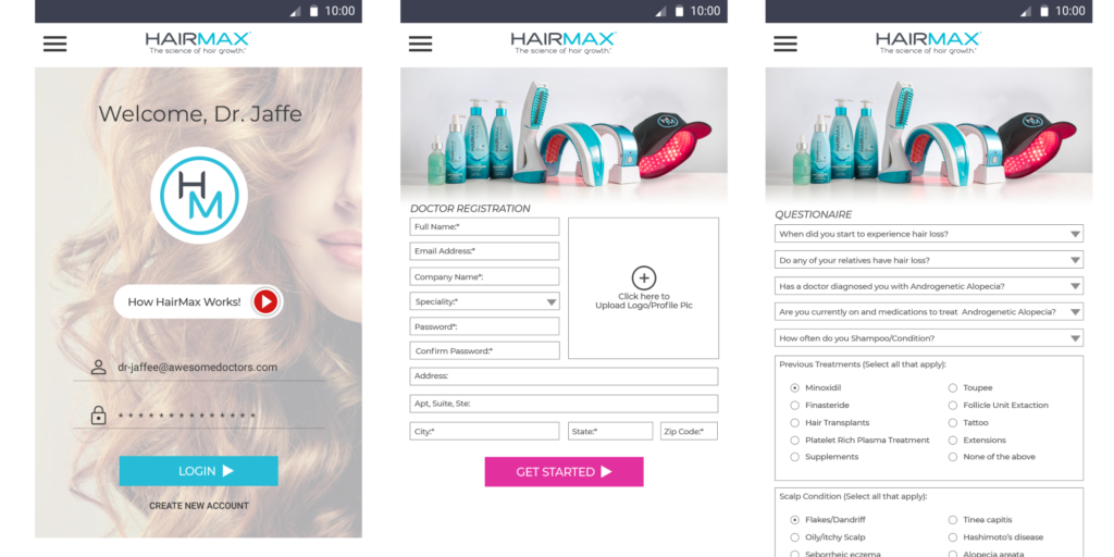 UppLabs created Healthcare app for preventing hair loss. HairMax mobile app