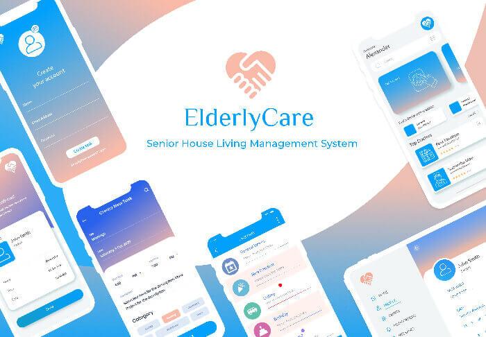 UppLabs portfolio. ElderlyCare cover
