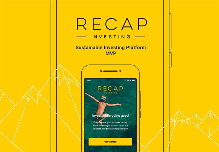 Recap Investing MVP by UppLabs. UppLabs Portfolio