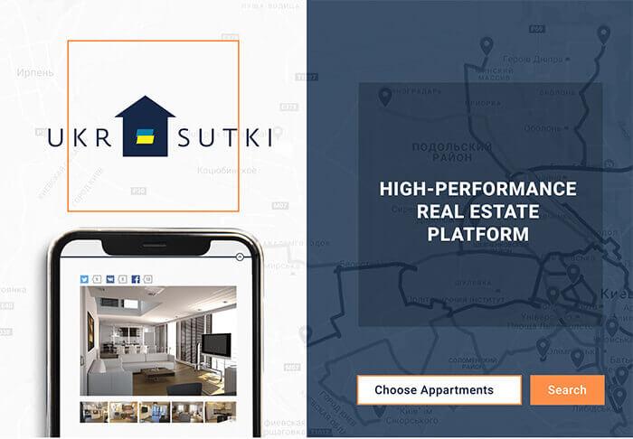 Ukrsutki is a high-performance real estate platform