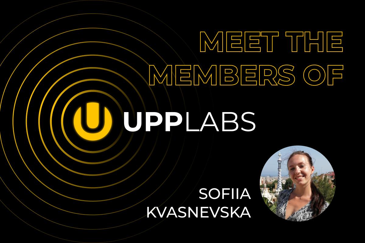 Sofiia Kvasnevska. Meet the team