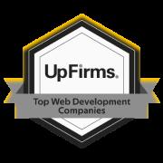 UppLabs on UpFirms. Award – TOP Web development company