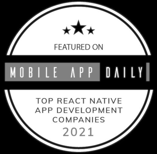 UppLabs on MobileAppDaily – Best React Native development company, Award. Gray